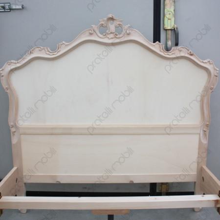 Testiera letto barocco grezza