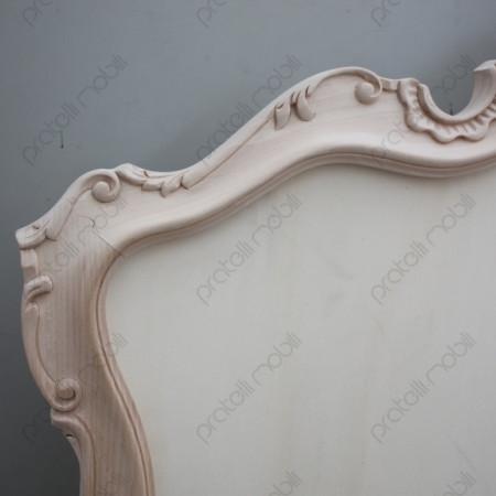 Testata barocco grezza in legno massello