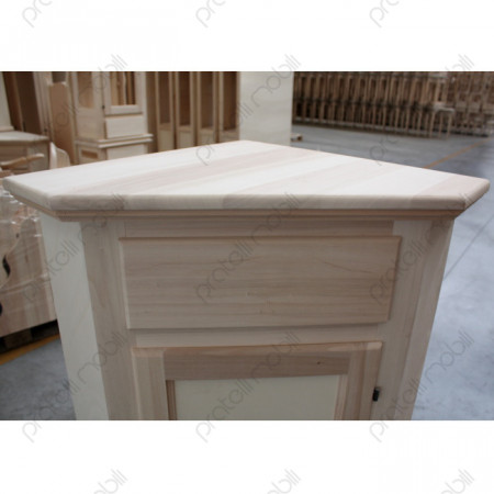 Angoliera Grezza top in Legno Massello