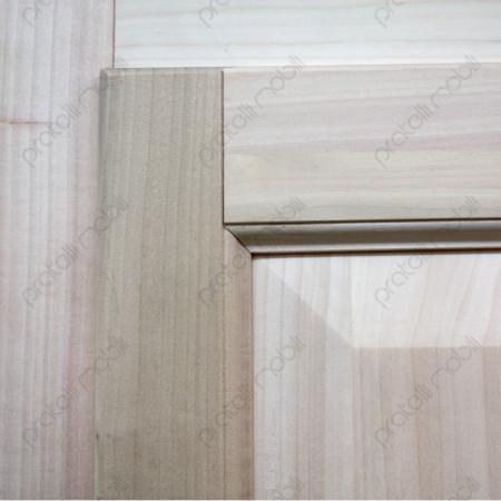 Armadio grezzo con anta in legno massello