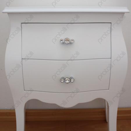 Maniglie Swarovski art. 14 su Bianco Opaco