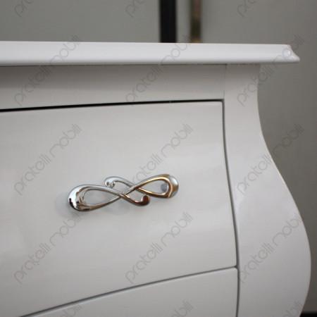 Maniglia art. 4 Cromata su Bianco Lucido