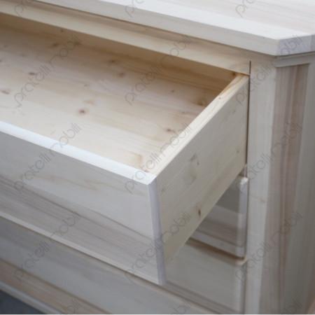 Cassetto estraibile in legno massello