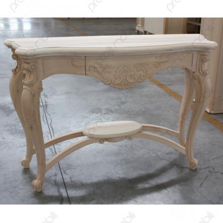 Consolle Barocca Venezia, in legno grezzo