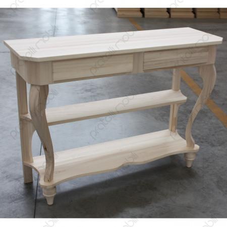 Consolle Decò in legno grezzo