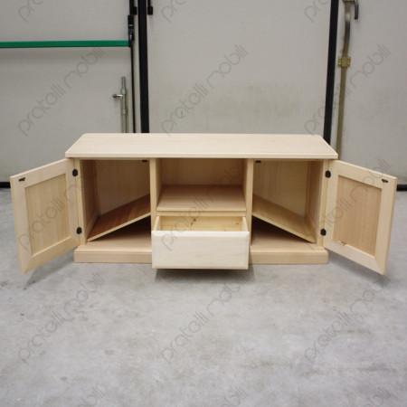 Porta tv composto da 2 ante e 1 cassetto centrale