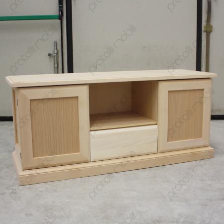Mobile grezzo porta tv quadro for Mobile porta tv legno grezzo
