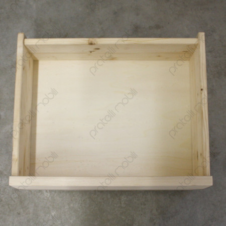 Mobile Grezzo Porta con cassetti in legno massello