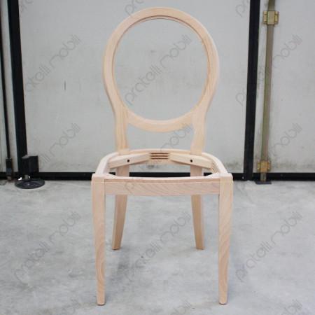 Sedia da verniciare con schienale a ovale