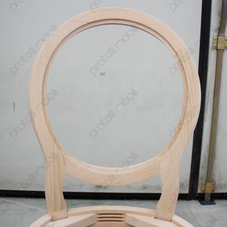 Particolare dello schienale ovale