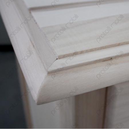 Credenza Grezza dettaglio top in legno