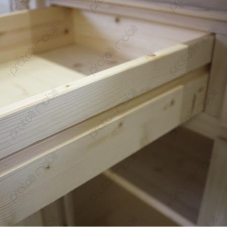Credenza Grezza con cassetti in legno di abete