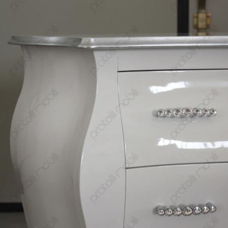 Finitura Bianco Lucido con Maniglie Swarovski art. 15