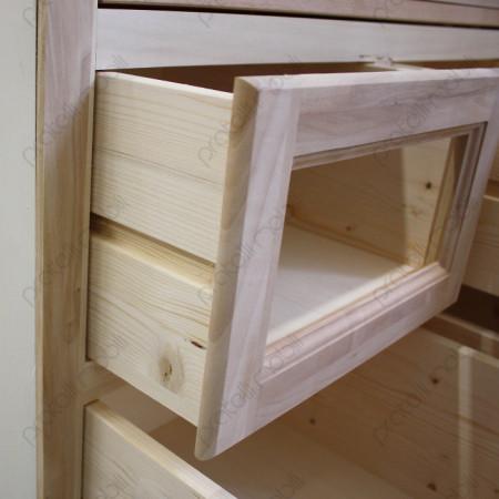 Cassetti con guide in legno