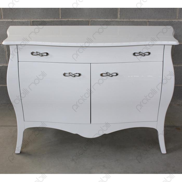 Madia Bombata Bianco Lucido con Maniglie art. 4 Cromate