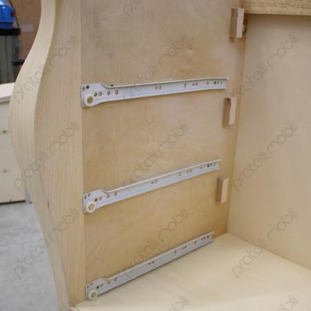 guide in alluminio per apertura e chiusura cassetti ammortizzate
