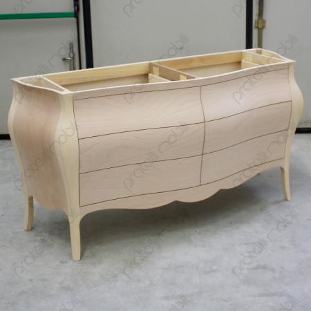 Mobile bagno bombato moderno da dipingere a piacere con qualsiasi colore