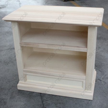 Mobile porta tv in legno naturale con top lavorato