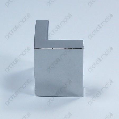 Maniglia moderna color argento a forma di L
