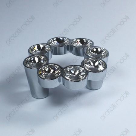 Maniglia rotonda cromata argento lucido
