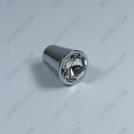 Pomello con Swarovski rotondi Art. 3 cromato argento