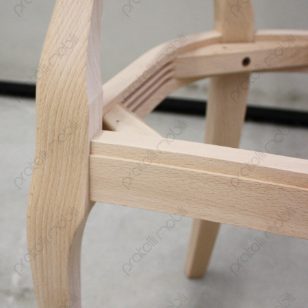 Seduta rinforzata in legno