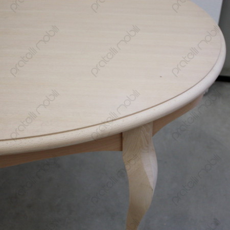 Tavolo Ovale  Grezzo con Top a Becco di Civetta