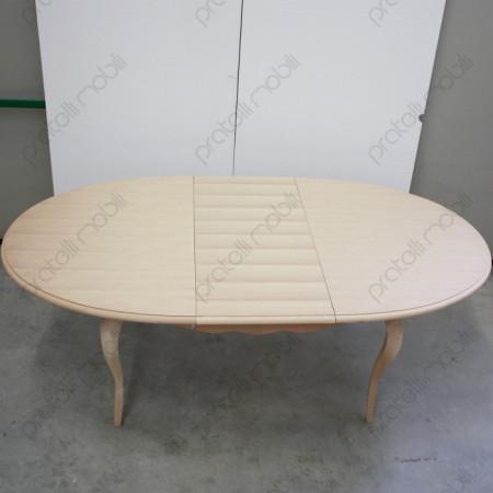 Tavolo grezzo con piano ovale