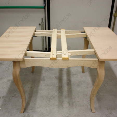 Struttura tavolo grezzo con prolunghe