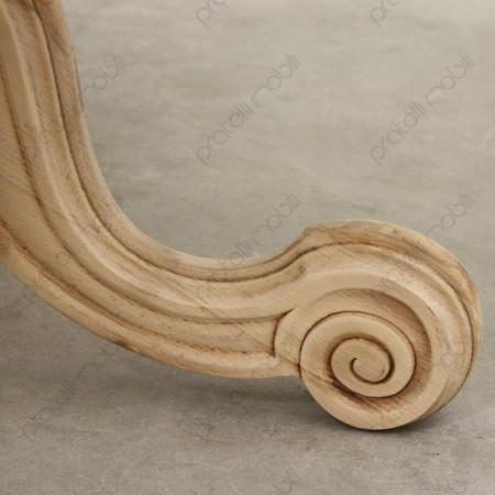 Tavolo grezzo con piede intagliato barocco