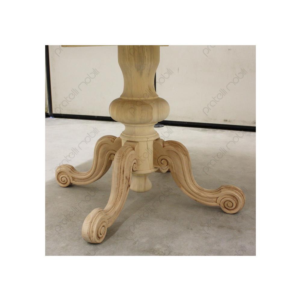 Tavolo Con Gamba Centrale Allungabile tavolo rotondo grezzo allungabile con gamba centrale
