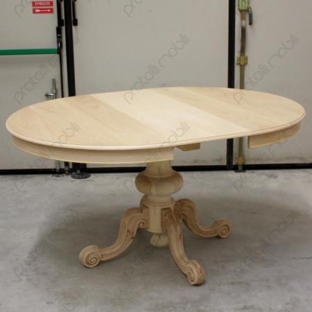 Tavolo rotondo con gamba centrale