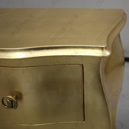 Comodino foglia oro