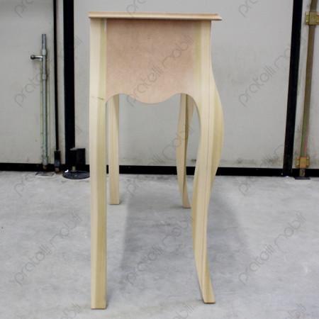 Consolle in legno con profilo sagomato