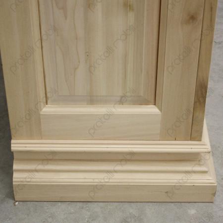 Vetrina grezza in legno