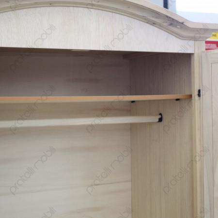 Bastone Appendiabito e Ripiano armadio grezzo