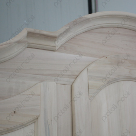 Armadio grezzo con ante in legno massello