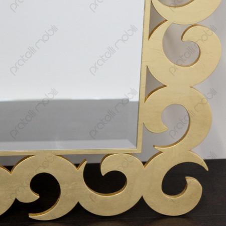 Specchiera Ricciolo Color Oro