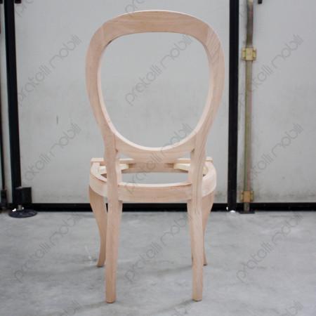 Sedia con Schienale Ovale
