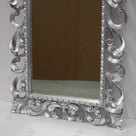 Specchiera in Stile Barocco Rifinita in Foglia Argento