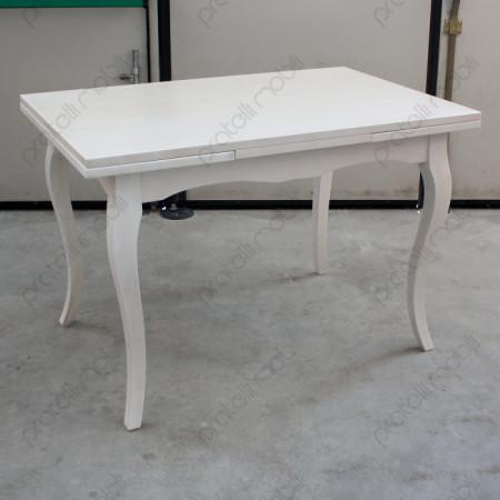 Tavolo Allungabile 120x80 Bianco Invecchiato
