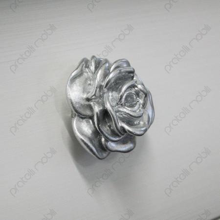 Maniglia a Forma di Rosa in Argento