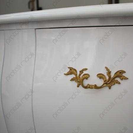 Maniglie Oro su Finitura Bianco Lucido