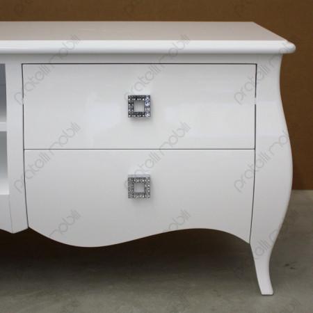 Porta TV Bianco con Maniglie Swarovski art. 9