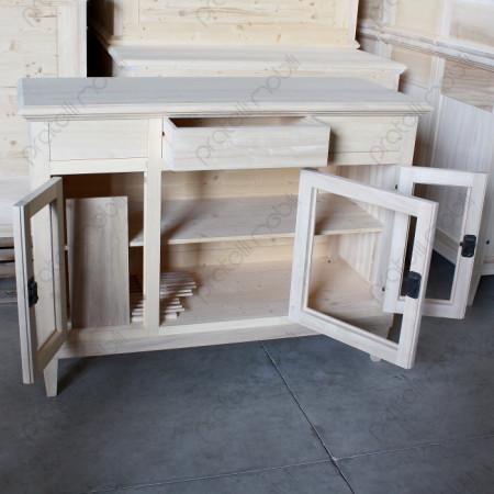 Credenza in legno grezzo da soggiorno