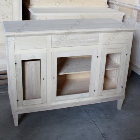 Credenza in legno grezzo da dipingere