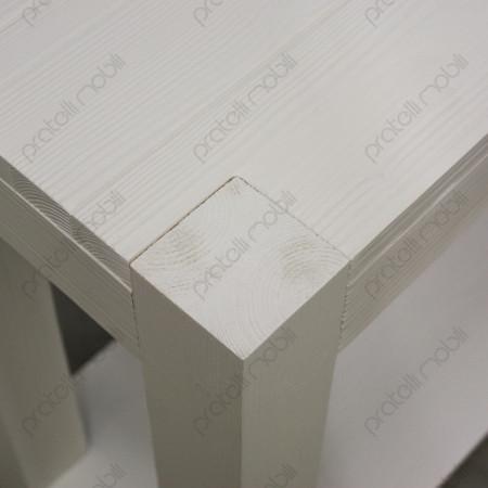 Consolle Moderna in Abete Massello Spazzolato Bianco