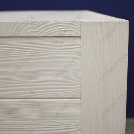 Dettaglio Abete Spazzolato Verniciato Bianco