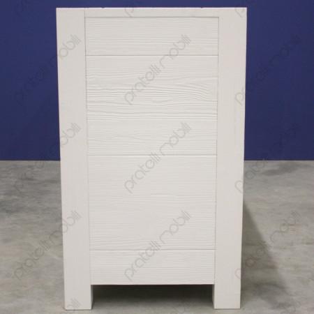 Credenza Moderna 2 Ante 2 Cassetti in Abete Massello Spazzolato Bianco