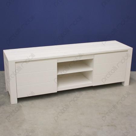 Porta TV Due Ante Abete Bianco